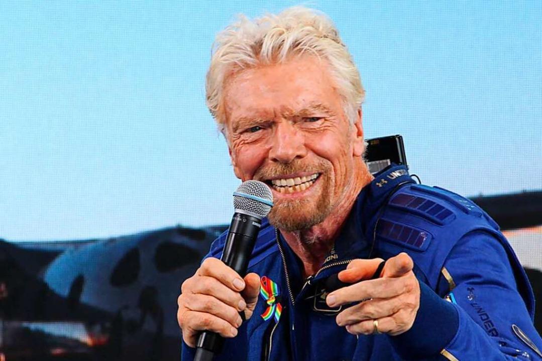 Richard Branson hat sich seinen Kindhe...e Milliardär ist ins Weltall geflogen.    Foto: Susan Montoya Bryan (dpa)