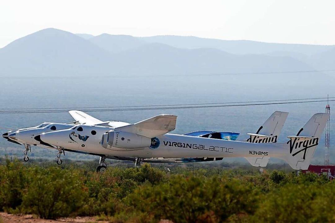 """Ein sogenanntes Mutterflugzeug bringt ...ity"""" auf etwa 15 Kilometer Höhe.    Foto: Andres Leighton (dpa)"""