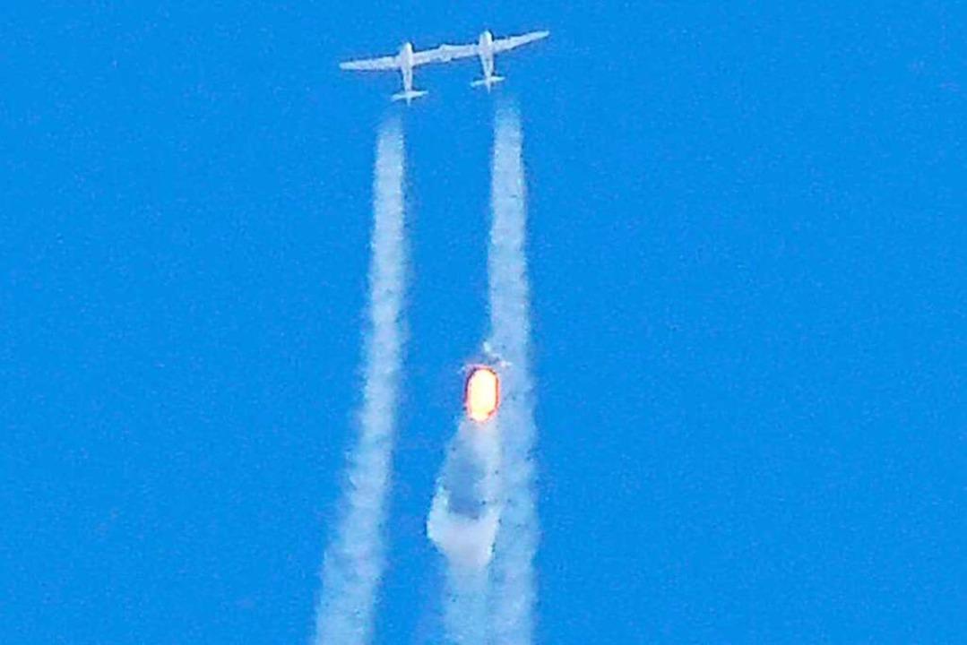 "Die ""VSS Unity"" klinkt sic...n mehr als 3.700 Kilometer pro Stunde.    Foto: PATRICK T. FALLON (AFP)"