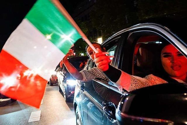 Italiener feiern mit Autokorsos im Kreis Lörrach – Polizei ist zufrieden
