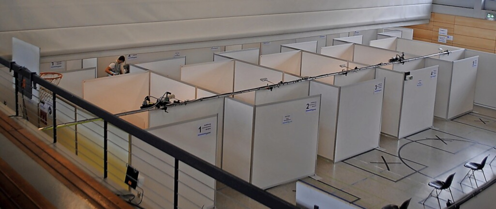 Im Kreisimpfzentrum Tiengen gab es Imp...ffnung des Impfzentrums am 22. Januar.  | Foto:  Schlichter, Juliane