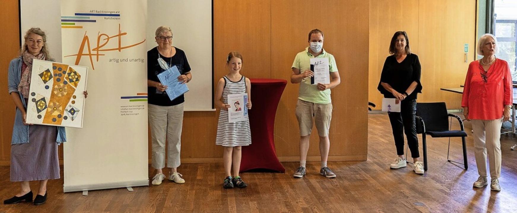 Als Kunstkenner bewiesen   (von links)... die  Vorsitzende des Kunstvereins Art  | Foto: Lisa Petrich