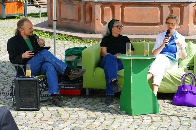Holpriger Start mit Franziska Brantner und Heike Dorow in Emmendingen