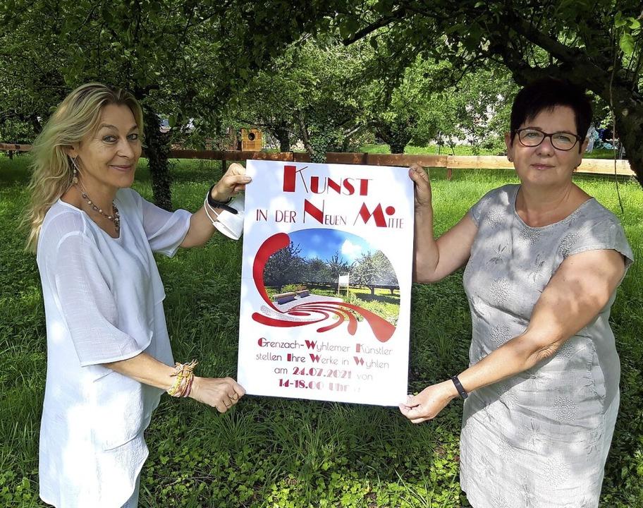 Freuen sich auf Kunst in der Neuen Mit... Hartmann (links) und Monika Lehnertz     Foto: Verena Pichler