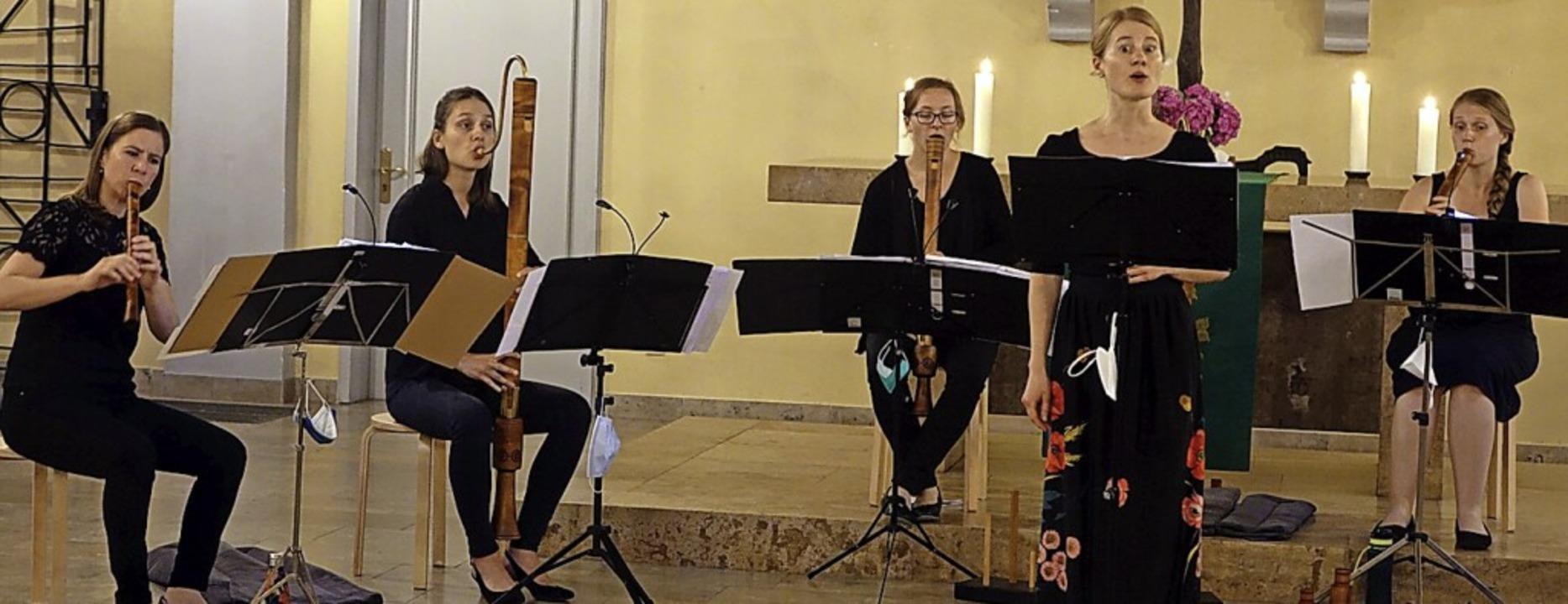 Mit Liedern und Chansons der Renaissan...ie Sängerin Marie Christine Köberlein.  | Foto: Roswitha Frey