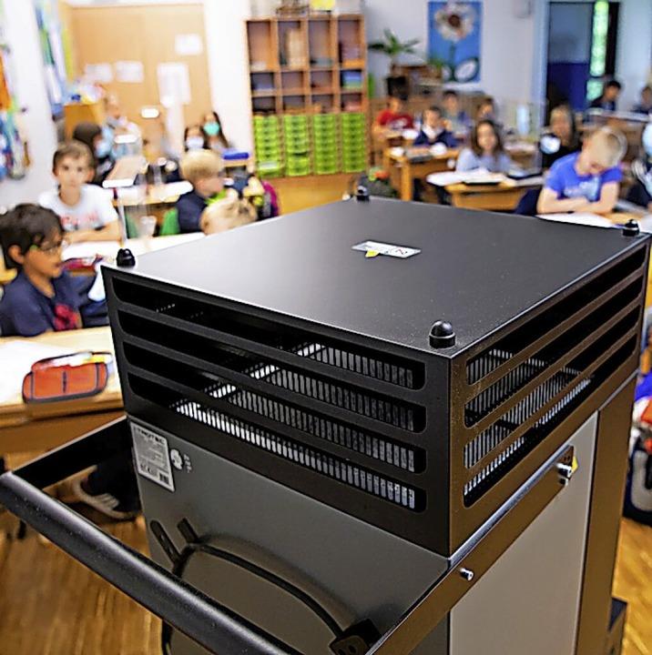 Filteranlage in einer Schule    Foto: Sven Hoppe (dpa)