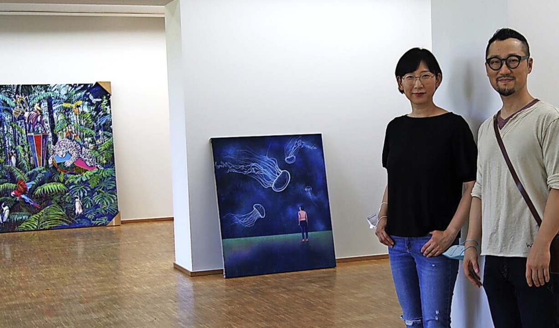 Chang Min Lee und Eun Hui Lee in der Städtischen Galerie  | Foto: Carola Bruhier