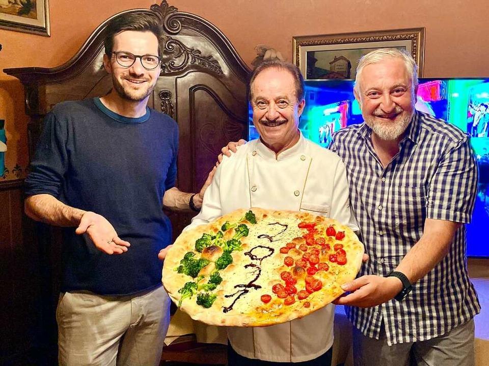 Pizza Italiana: OB Martin Horn, France...m EM-Finale im Ristorante San Marino.   | Foto: Privat