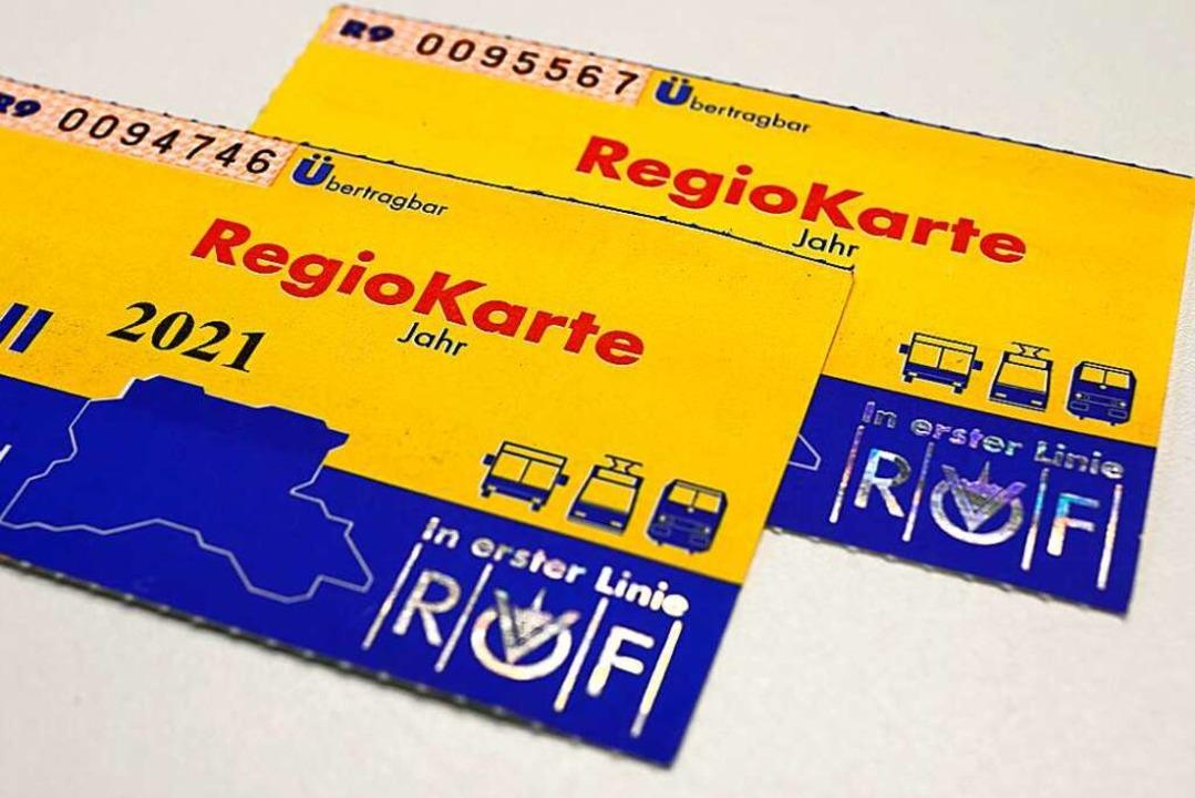 Diese Regio-Karten sind keine Fälschun..., um sie fälschungssicherer zu machen.  | Foto: Ingo Schneider