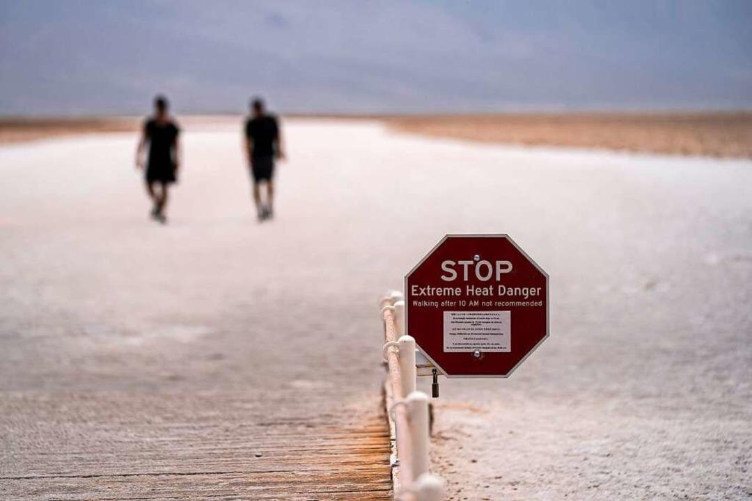 In Death Valley wurden vergangne Woche über 54 Grad gemessen  | Foto: John Locher (dpa)