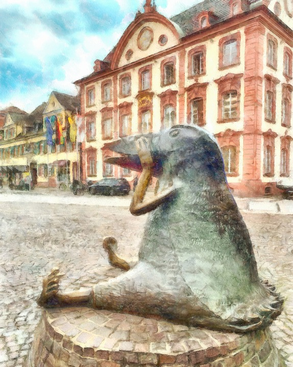 """""""Vogel"""" vor dem Rathaus    Foto: Helmut Seller"""