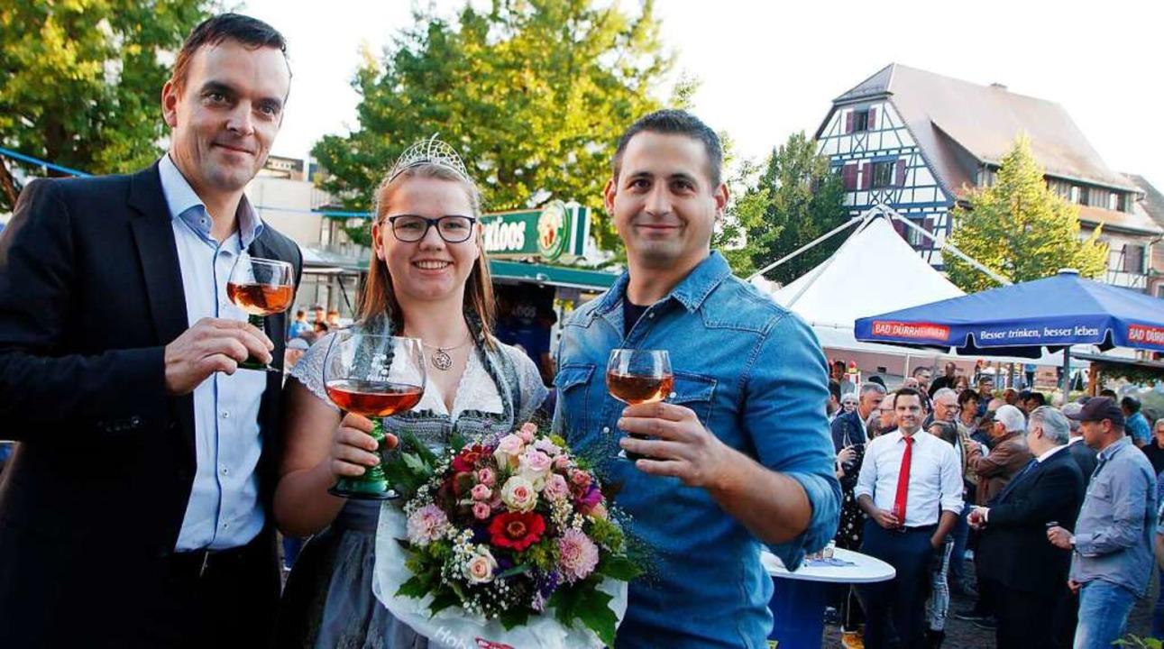 Zuletzt gab es 2019 ein Bürgerfest: Bü... Bader und Timo Siefert eröffneten es.  | Foto: Heidi Fößel