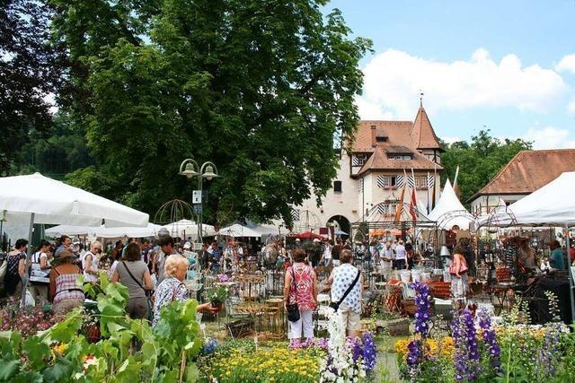 Gartenmesse Diga auf Schloss Beuggen bei Rheinfelden