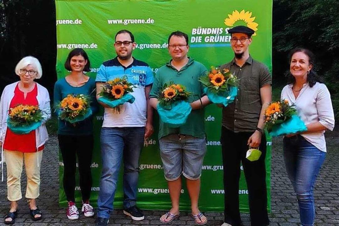 Der neue Vorstand des Grünen Kreisverb...gos, Nils Arnold und Christine Straub.    Foto: Marlene Krüger/ Kreisverband Grüne