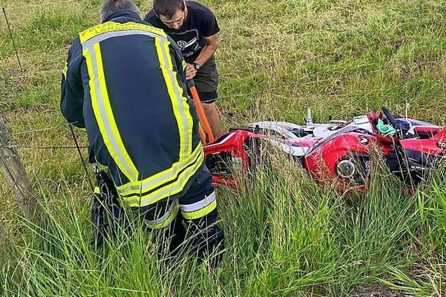 Motorradfahrer schwer verletzt
