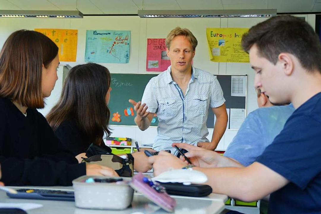 Sebastian Albert-Seifried  bringt Schü... sich um das Projekt Schools 4 Future.  | Foto: Sebastian Heilemann