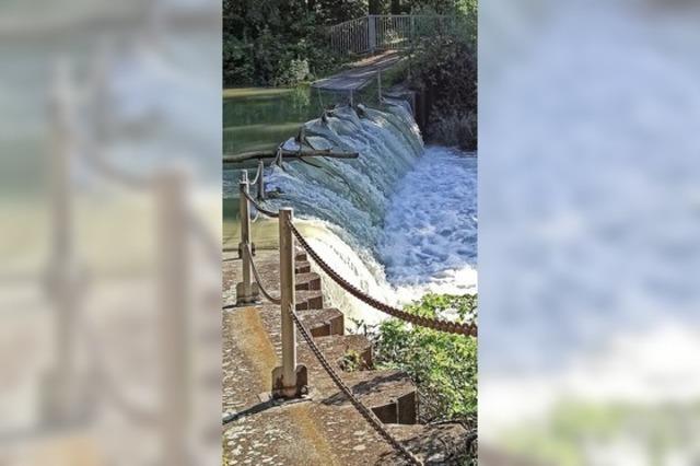 Wasserfall statt Durchgang