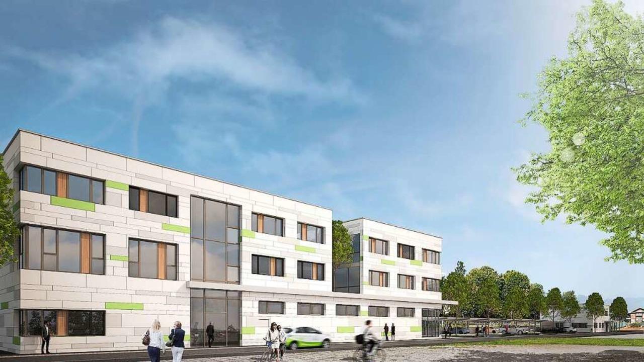 So soll das Hauptgebäude mit Getränkem... ist die neue Sozialstation erkennbar.  | Foto: Energiedienst