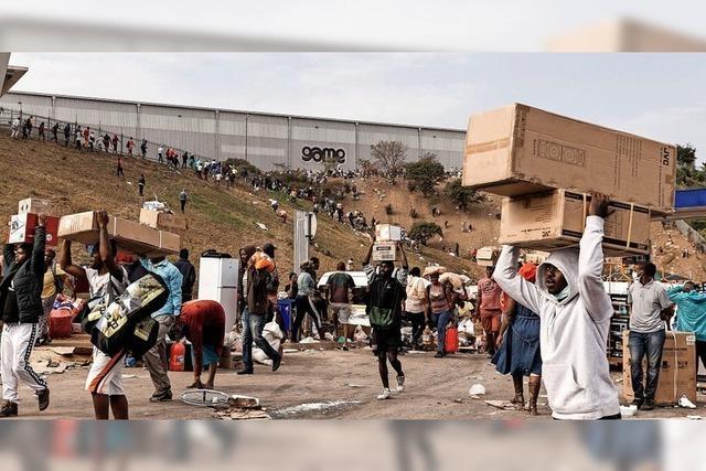 Krawalle in Südafrika
