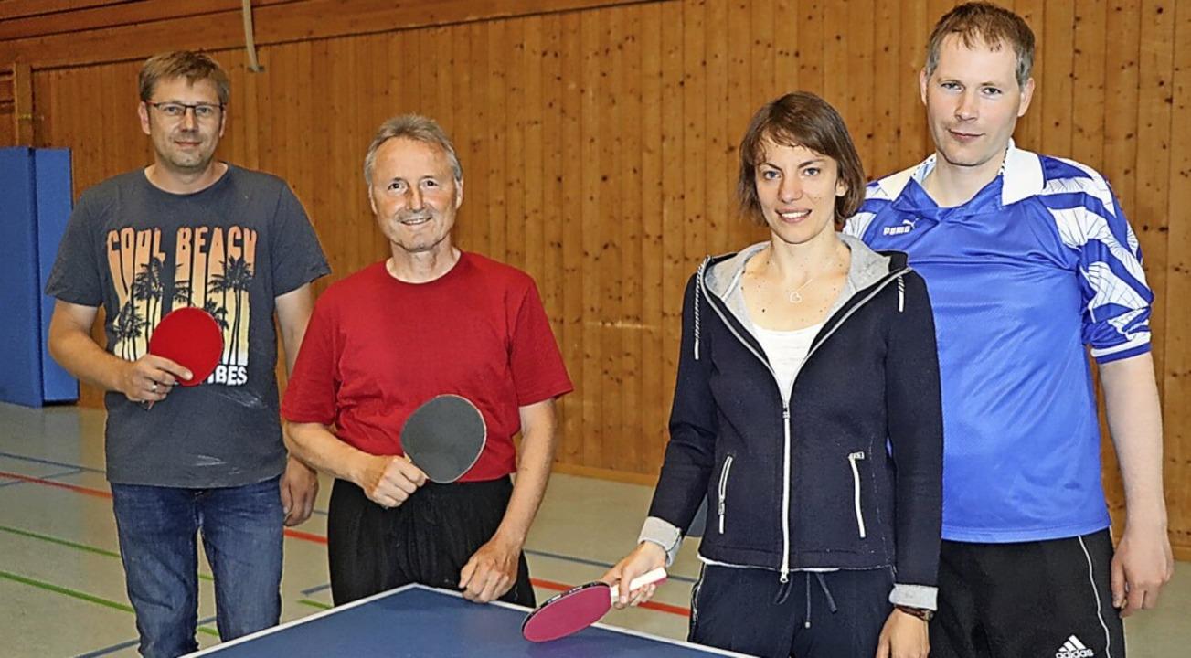 Von Tischtennis begeistert: Markus Kön...sowie Kristina und Johannes Klitzke.      Foto: Dieter Maurer