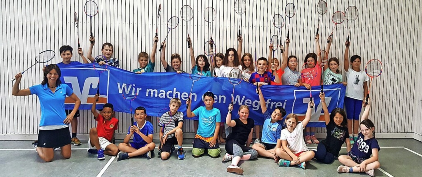 <BZ-FotoAnlauf>Badminton-Schultour:</B...chülern in Wiechs Freude an Bewegung.   | Foto: privat
