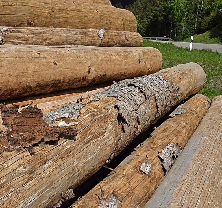 Große Mengen Schadholz sind 2020 in Höchenschwand (Symbolfoto) angefallen).  | Foto: Sebastian Barthmes