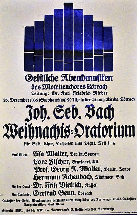 Bach mit Burte-Text: Der Lörracher Motettenchor im Jahr 1935  | Foto: Thomas Loisl Mink