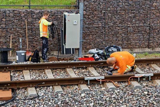 Schmieranlagen für die Gleise sollen Kaiserstuhlbahn leiser machen