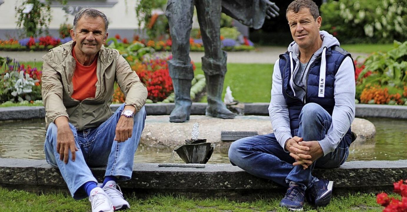 Die Organisatoren des Laufs:  Helmar Burkhart  (links) und  Holger Ahlers    Foto: Vanessa Dai