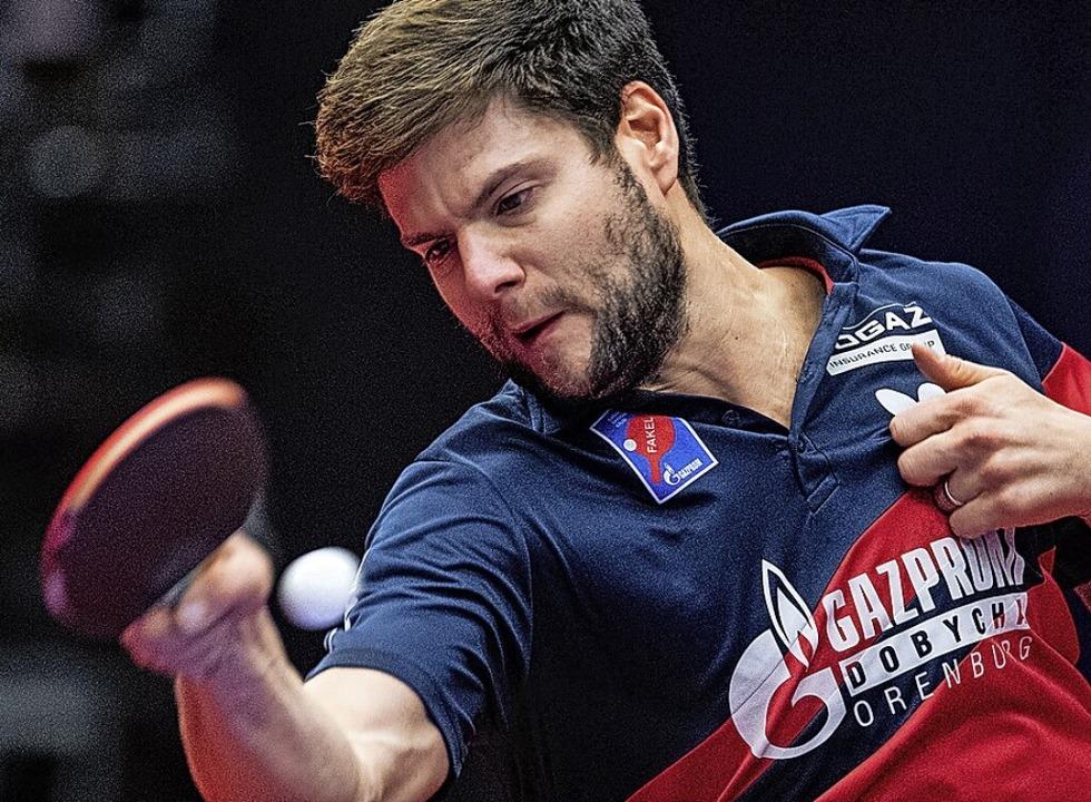 Dimitrij Ovtcharov hat schon drei olym...In Tokio will er die nächste gewinnen.  | Foto: Marius Becker (dpa)