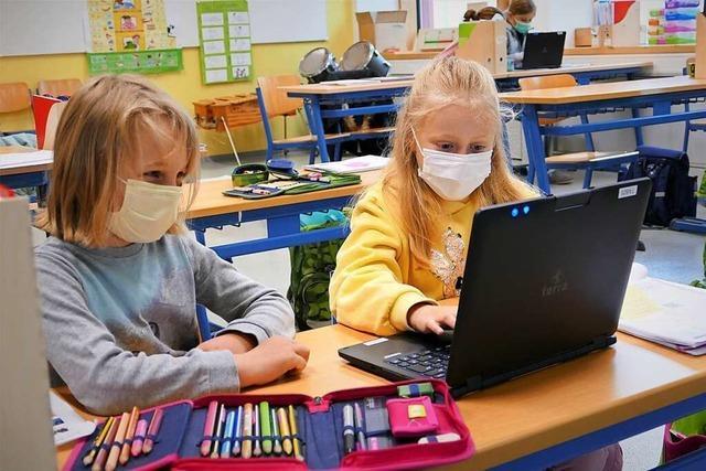 Wie selbstverständlich digitales Lernen an einer Merdinger Schule läuft