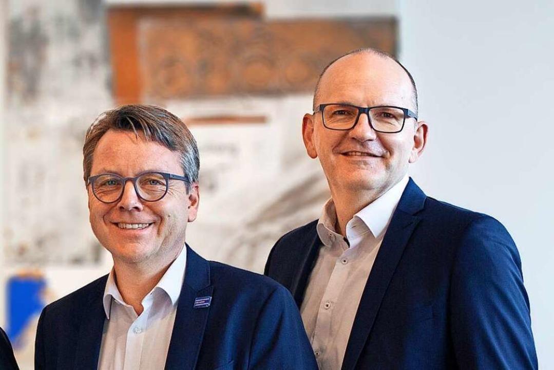 Thomas Zehnle (link) und Patrick Zürcher.  | Foto: Regula Wolf