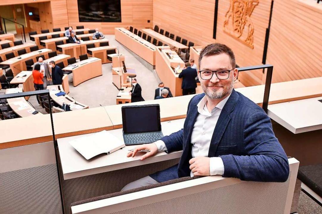 Schätzt die flachen Zugänge der Landes...itz im baden-württembergischen Landtag    Foto: Ferdinando Iannone