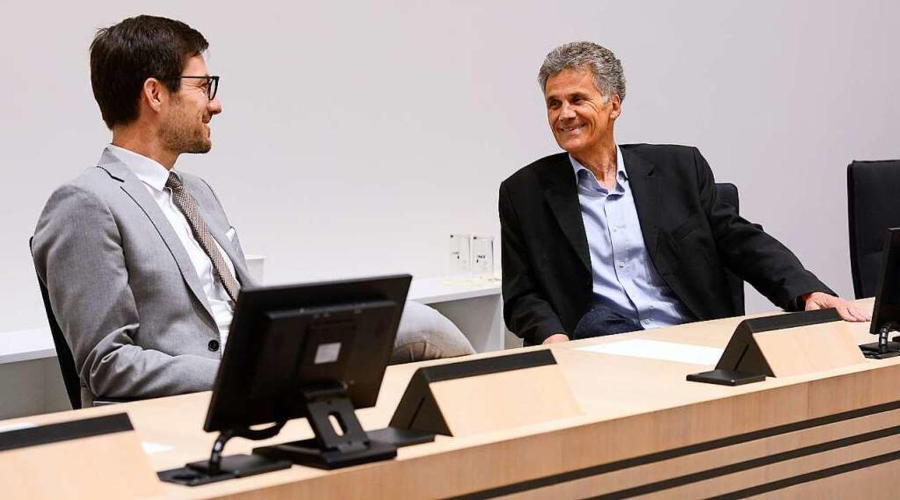 Oberbürgermeister Martin Horn (links) ...d städtisches Geld bei der Pleitebank.    Foto: Ingo Schneider