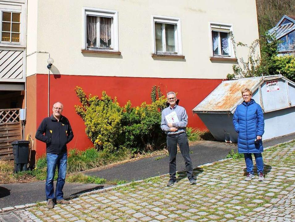 Schon länger protestieren Riedmatter  ...trittmatter, Herbert und Yvonne Glatt.  | Foto: Rolf Reißmann
