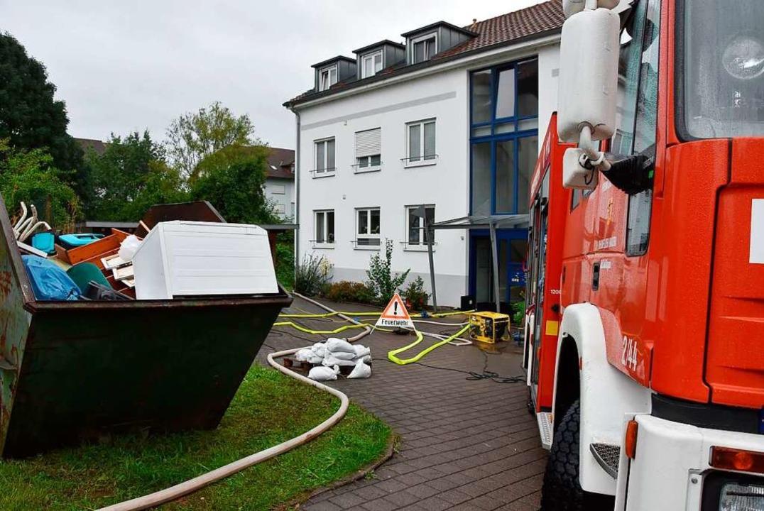 Die Feuerwehr war im Einsatz    Foto: Heinz und Monika Vollmar