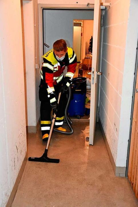 Die Feuerwehrabteilung Nollingen im Einsatz    Foto: Heinz und Monika Vollmar