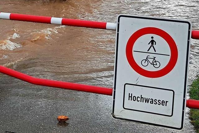 Waldkircher Feuerwehr: Abstand wahren zur Elz bei Hochwasser