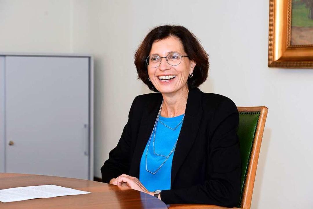 Christine Buchheit hat vor 100 Tagen i...ürgermeisterin in Freiburg angetreten.    Foto: Ingo Schneider