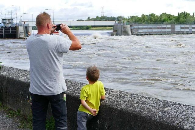 Lage am Rhein bei Breisach und Hartheim bleibt angespannt