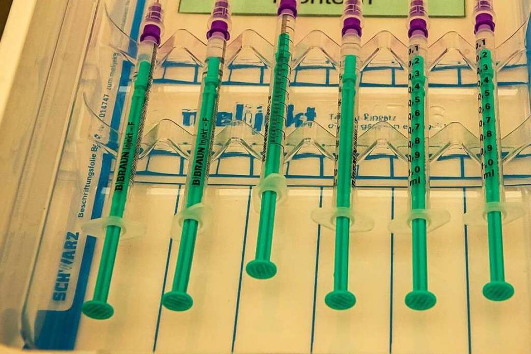 Am Samstag wird während des Lörracher ...n und ohne Terminvereinbarung geimpft.    Foto: Jonas Hirt