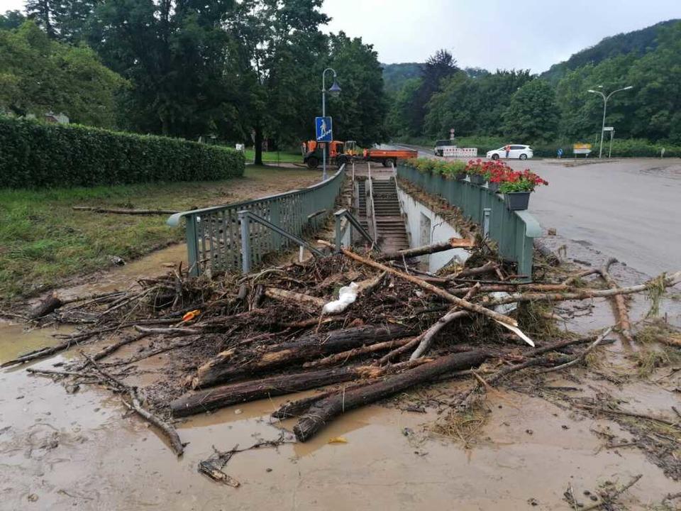 Unwetterfolgen in Inzlingen  | Foto: Kathrin Ganter