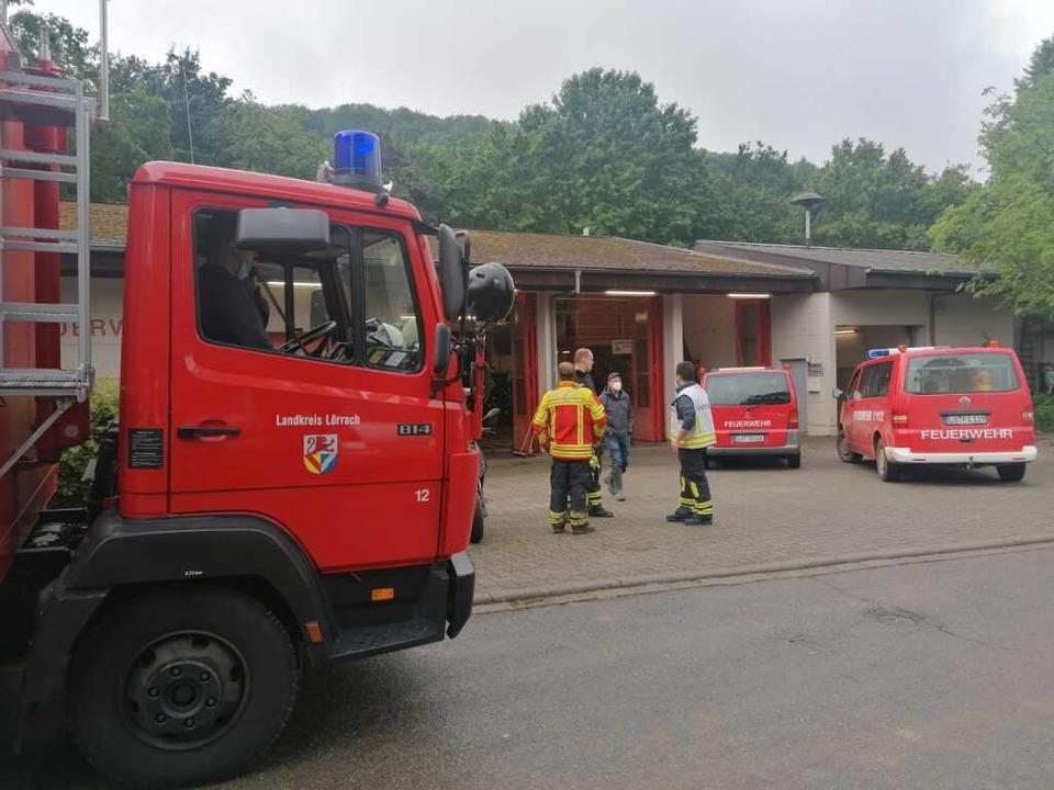 Einsatzzentrale am Feuerhaus in Inzlingen  | Foto: Jonas Hirt