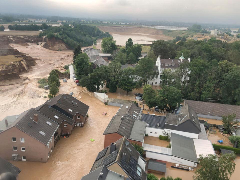 Der Erftstädter Ortsteil Blessem – ein Katastrophengebiet,    Foto: Rhein-Erft-Kreis (dpa)