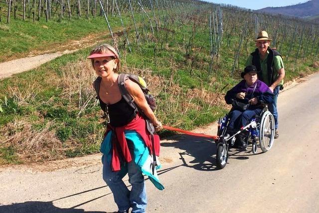 Mit dem Rollstuhl unterwegs auf dem Badischen Pilgerweg von Bleibach nach Denzlingen