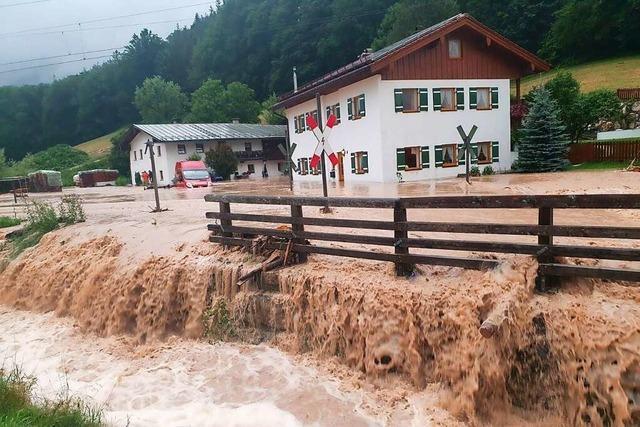 Auch Teile Bayerns und Sachsens werden von Überschwemmungen getroffen