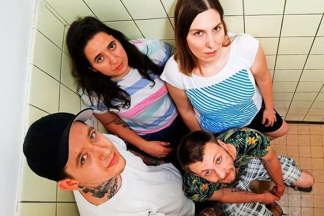 Die Indie-Band Symmetrie aus Südbaden probt selten zusammen