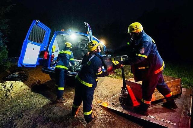 Das Technische Hilfswerk war im Kreis Lörrach mit 102 Helfern im Einsatz