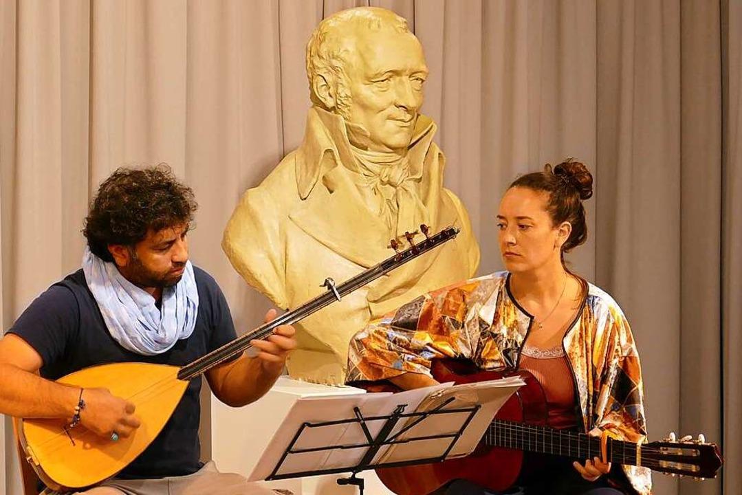 Samano Altahir und Anne Gelhaar aus Mü...egleiteten die Verleihung musikalisch.    Foto: Martina David-Wenk