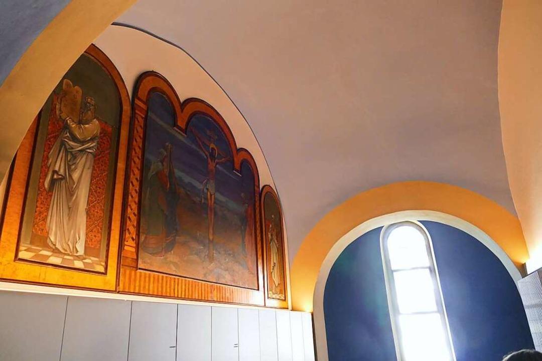 """Der """"blaue Salon"""" – ...stammt aus der Gründerzeit der Kirche.    Foto: Sylvia Sredniawa"""